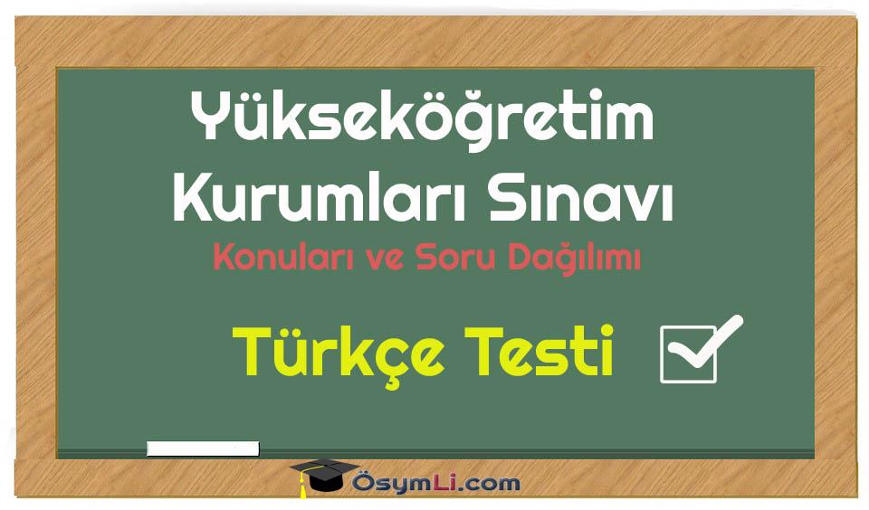türkçetesti