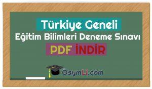 türkiyegenelieğitimbilimleri denemsınavı indir