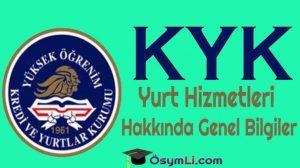 KYK-Yurt-Hizmetleri-Hakkında-Genel Bilgiler