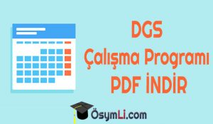 dgs-ders-calısma-programi-indir