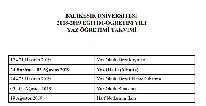 2019-balikesir-universitesi-yaz-okulu-akademik-takvimi-20119