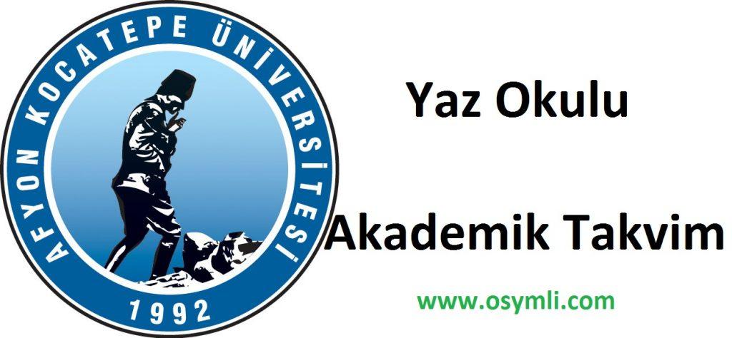 Afyon-Kocatepe-Üniversitesi-yaz-okulu-akademik-takvim