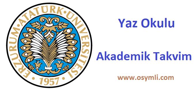 Erzurum-Atatürk-Üniversitesi-yaz-okulu-akademik-takvim