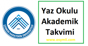 Çankırı-Karatekin-Üniversitesi-yaz-okulu-akademik-takvimi