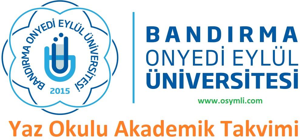 Bandırma-17-Onyedi-Eylül-Üniversitesi-yaz-okulu-akademik-takvimi