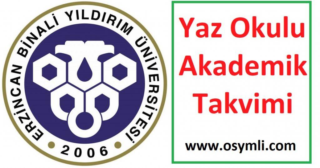 Erzincan-Binali-Yıldırım-Üniversitesi-yaz-okulu-akademik-takvimi