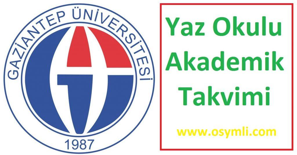 Gaziantep-Üniversitesi-yaz-okulu-akademik-takvimi