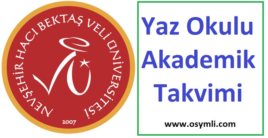Nevşehir-Hacı-Bektaş-Veli-Üniversitesi-yaz-okulu-akademik-takvimi