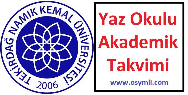 Tekirdağ-Namık-Kemal-Üniversitesi-yaz-okulu-akademik-takvimi
