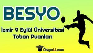 izmir_9_eylül_universitesi_Besyo_Taban_Puanlari_2020