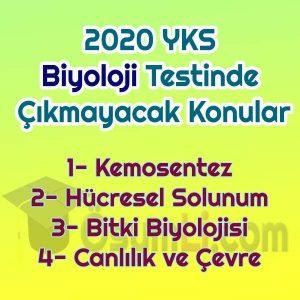 2020_yks_biyoloji_cikmayacak_konular